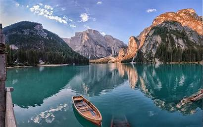 Lake Summer Mountain Landscape Nature Water Italy