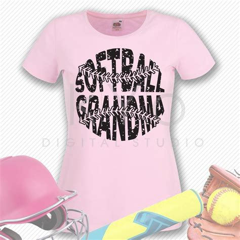 softball grandma svg stitches svg distressed softball svg