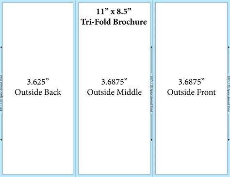 8 5x11 brochure template tri fold brochure template theveliger
