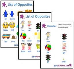 Preschool Printable Opposites Worksheets
