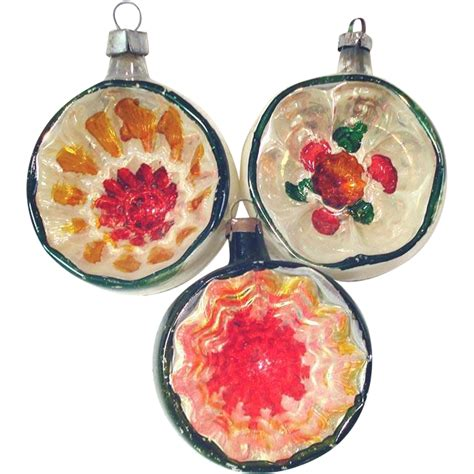 1930s germany deep indented christmas ornaments from