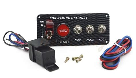 30a Universal Racing Switch Panel For Car , Toggle Starter