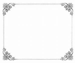 8 Fancy Paper Border Designs Images - Fancy Frame Borders ...