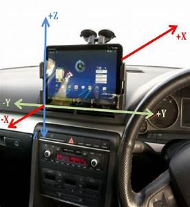 Motorola Xoom Attached To Windshield Of Car And Its 3