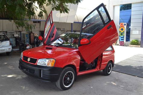 800 Maruti Car Modified by This Modified Maruti 800 Gets Scissor Doors And Tons Of