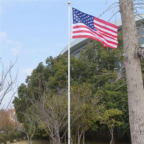 outdoor flag pole lights 20ft aluminum sectional flagpole kit outdoor halyard pole
