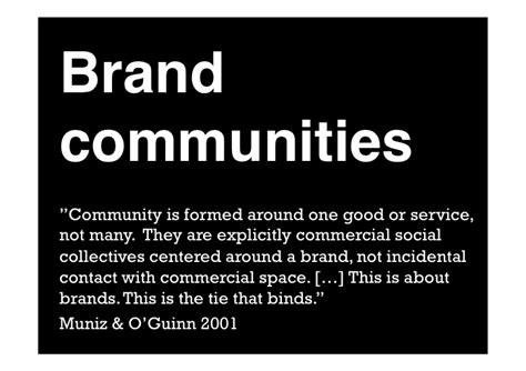 Brand Communities  Brands In Strategic Marketing Guest