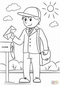 Mail Carrier coloring page   Free Printable Coloring Pages