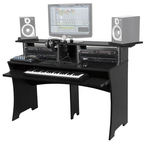 bureau pour home studio photo glorious dj workbench walnut glorious dj station
