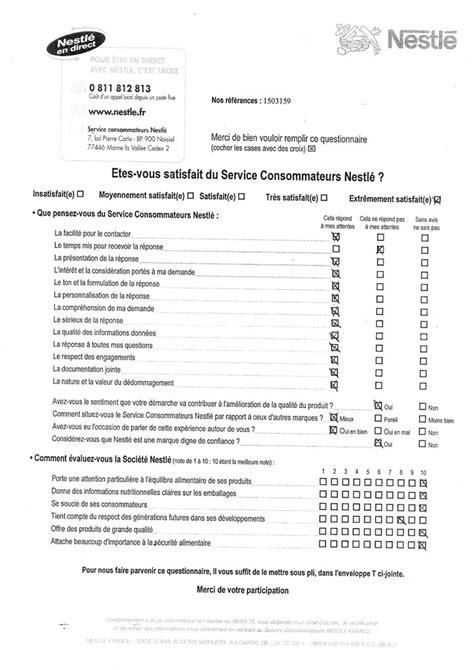 questionnaire de satisfaction client magasin 28 images aide modele questionnaire de