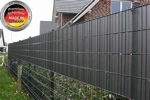 Sichtschutz Für Doppelstabmatten : sichtschutz f r zaun anthrazit nabcd ~ Orissabook.com Haus und Dekorationen