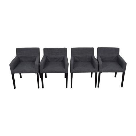 47% Off  Ikea Ikea Nils Grey Fabric Dining Room Chairs