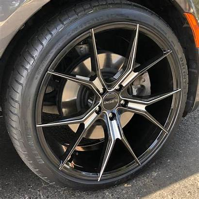 Wheels Element Rims Milled Staggered Fitment Gloss