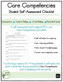 Core Competencies Selfassessment Checklist To Support Bc