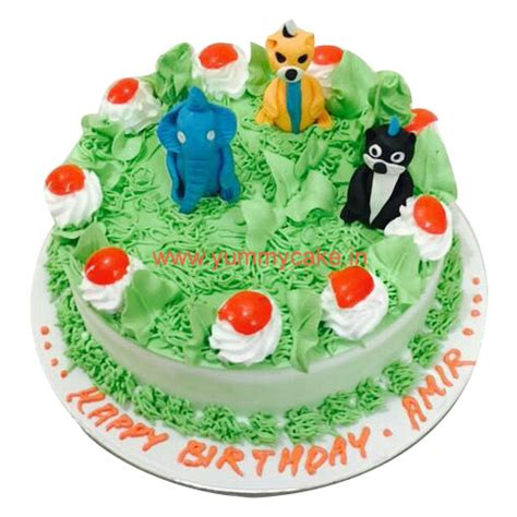 jungle birthday cake   home delivery yummycake
