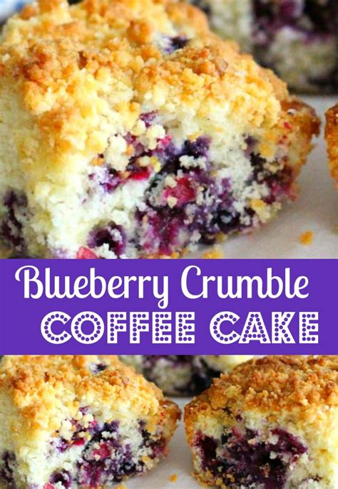 Buttery sour cream coffee cake bursting with fresh blueberries and topped with a sweet crumble is a treat you'll look forward to eating all year long with your morning coffee. Blueberry Crumble Coffee Cake - melissassouthernstylekitchen.com