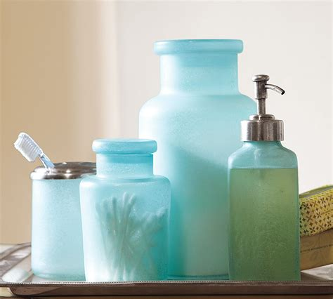 Blue Glass Bathroom Accessories by Blue Glass Bathroom Accessories Home Interior