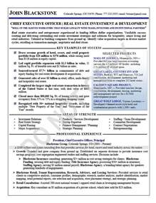 Ceo Resume Format by Executive Resume Sles Elizabeth Bradford The