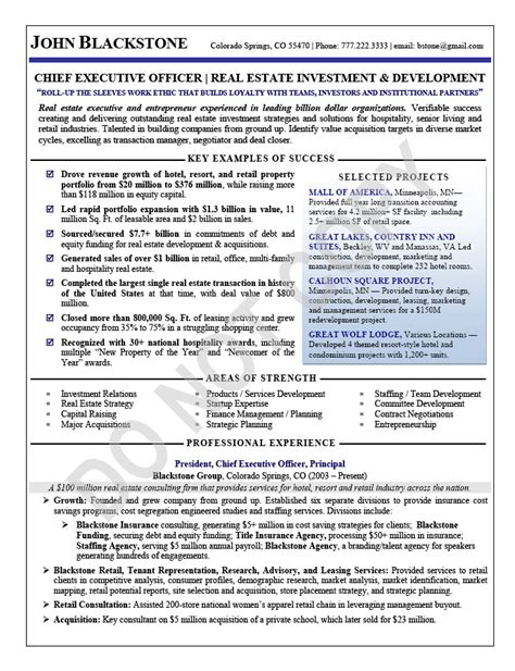 Executive Resume Sample  Chief Executive Officer. Make Your Own Letterhead Free Template. Letter For Accepting A Job Template. Personal Summary Example Cv Template. Line Cook Job Description For Resumes Template. What Were The Causes Of The Great Depression Template. Write A Letter Of Resignation Template. Interview Questions For Employers Template. Microsoft Excel Spreadsheet Example Template