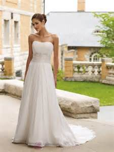 strapless a line wedding dresses simple a line strapless wedding dress from chiffon sang maestro