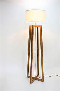 39a frame39 floor lamp mfeo With making a wooden floor lamp