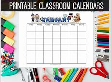 8 Best Images of Preschool Printable Calendar Month