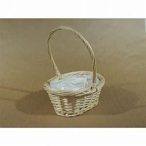 Panier Osier Blanc : panier oval osier blanc anse florimat ~ Teatrodelosmanantiales.com Idées de Décoration