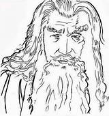 Lord Hobbit Gandalf Colouring Lotr Coloriages Senhor Tolkien Letscolorit Colorkiddo Mewarnai sketch template