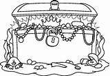 Treasure Chest Coloring Pages Printable Adults sketch template