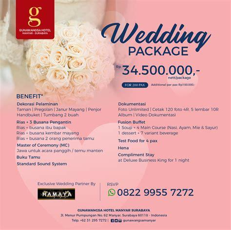 wedding package  hotel gunawangsa surabaya