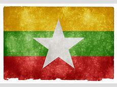 Myanmar Grunge Flag Grunge textured flag of Myanmar on