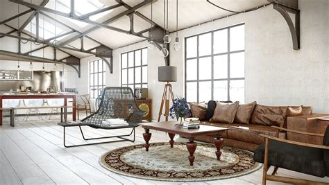 cuisine marron glacé industrial utilitarian living space interior design ideas