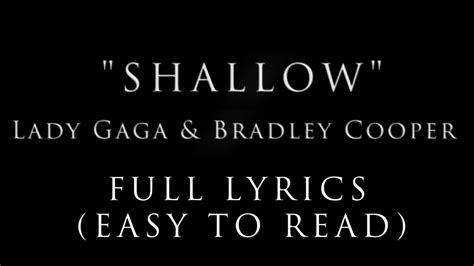 Song Lyric Shallow Lady Gaga Bradley Cooper Music Video