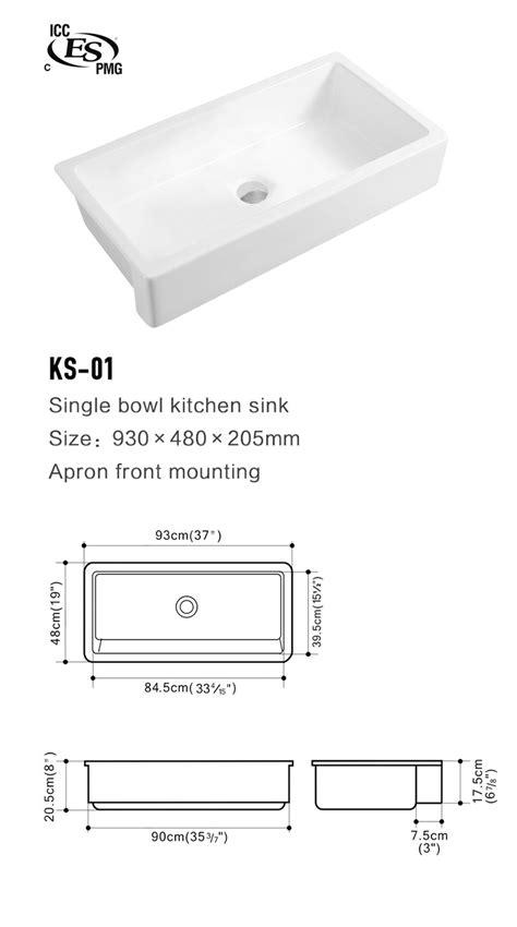 Professional Drop In White Farmhouse Kitchen Ceramic Sink