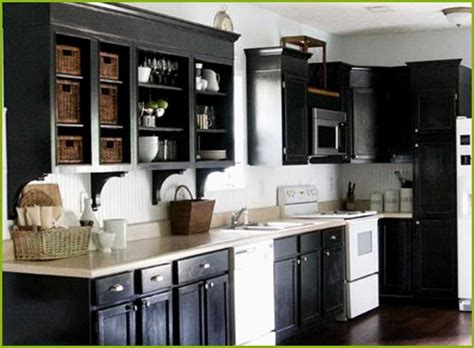 painted black kitchen cabinets painted kitchen cabinets with black appliances image to u 3966