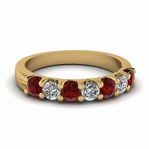Save big on ruby wedding bands for women fascinating diamonds for Ruby wedding band rings