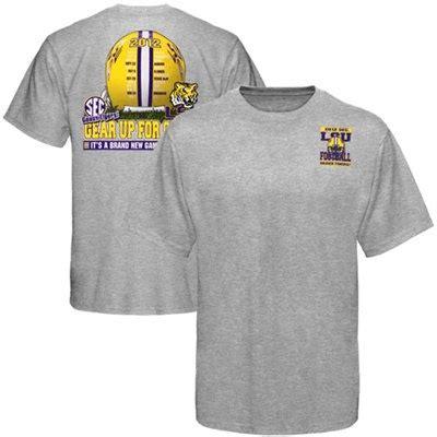 LSU Tigers 2012 Football Schedule Gear Up T-Shirt - Ash ...