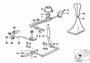 1991 Bmw 525i Gear Shift Knob Plastic  5