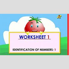 Kindergarten Learning Numbers Worksheets  Number 1 Youtube