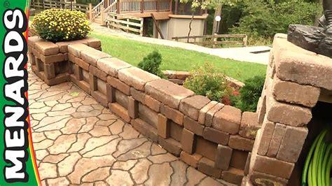 menards patio wall blocks curved wall planter how to build menards