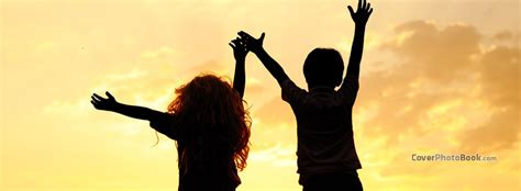 friendship kids sunset facebook cover creative