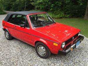 Sell Used 1982 Volkswagen Rabbit Convertible With 24 000