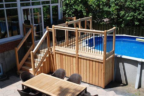 deck piscine hors terre plan recherche google patio