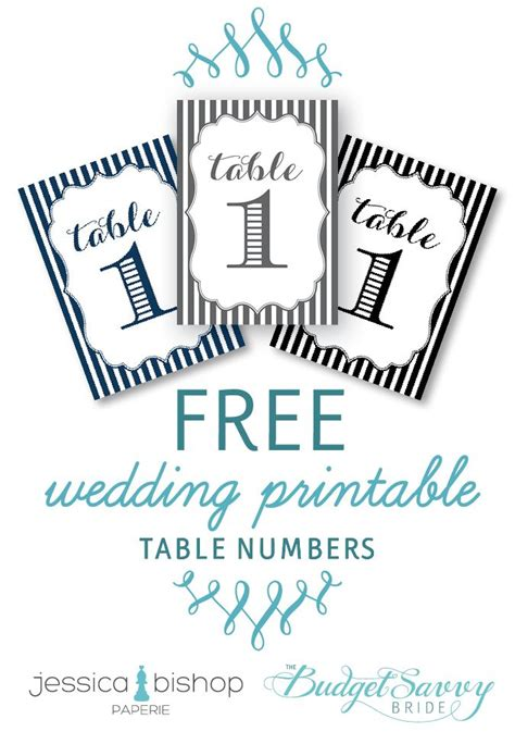 printable wedding reception templates table numbers