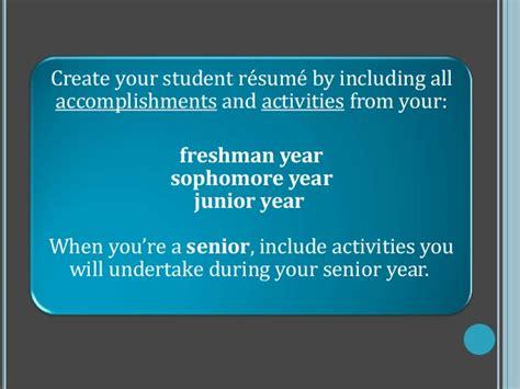 colege resume ppt