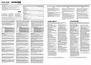 Alpine Kca-410c Manual