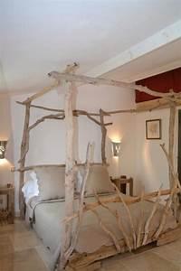 Lit Baldaquin Bois : lit baldaquin en bois flott s 160 x 200 coin de paradis en 2019 pinterest bedroom ~ Teatrodelosmanantiales.com Idées de Décoration