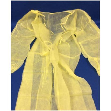 dynarex   gown isolation yellow  sizes