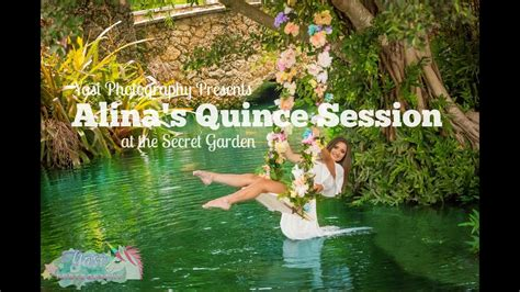 alinas quincenera session   secret gardens miami