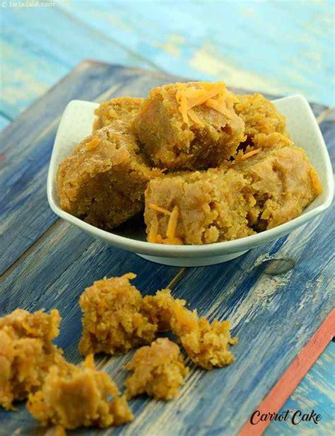 Easy carrot snack recipe for kids. Carrot Cake Recipe , Healthy Snack for Kids, Babies, Tarla Dalal